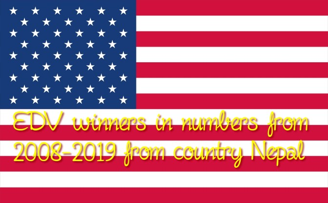 EDV winners in numbers from 2008-2019 from country Nepal