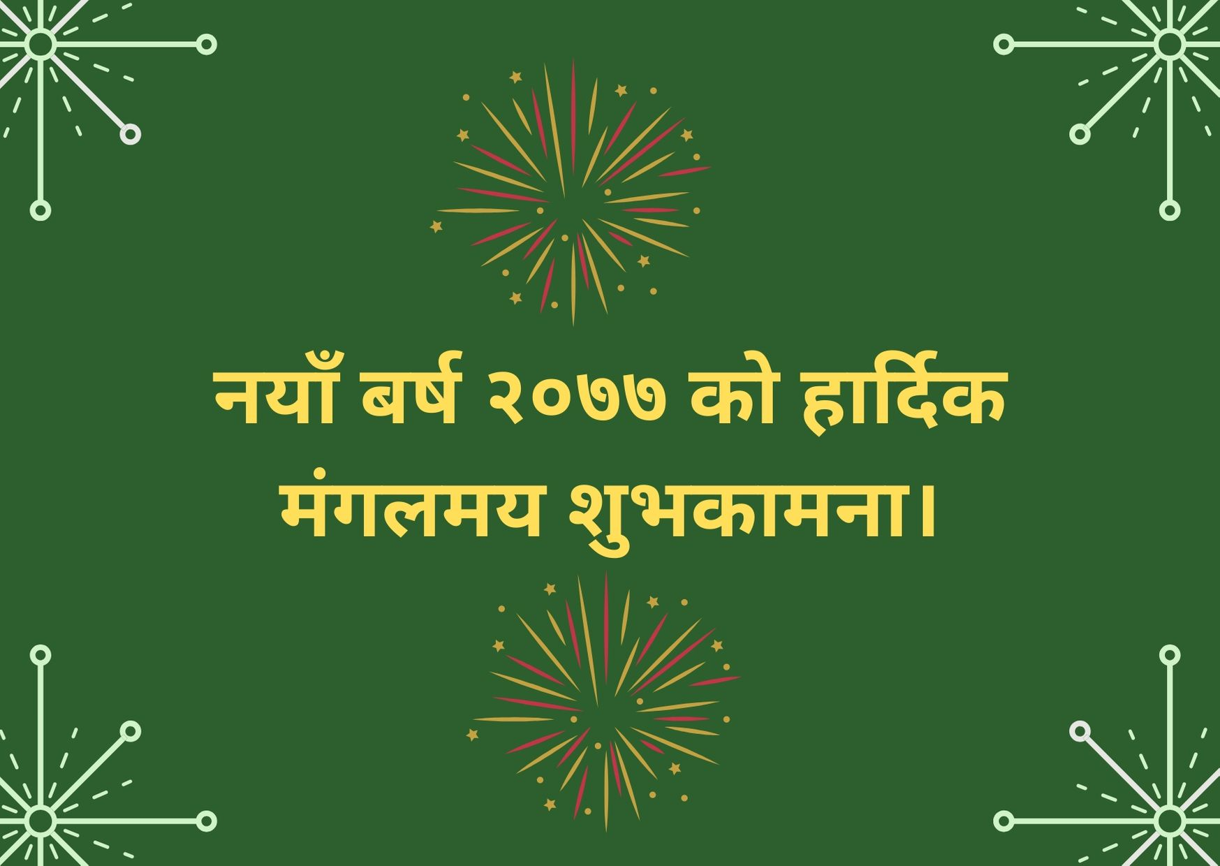 Happy New Year 2077 Wishes, Greetings, SMS & Images