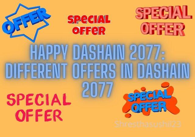 Happy Dashain 2077: Different Offers in Dashain 2077