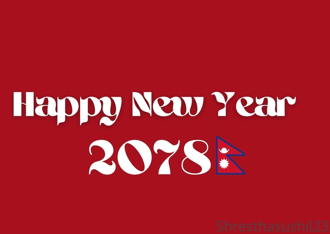 Happy New Year 2078 Wishes Greetings SMS & Images