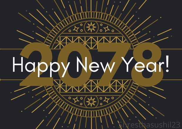 New Year 2078 Wishes & Greetings Images in Nepali & English