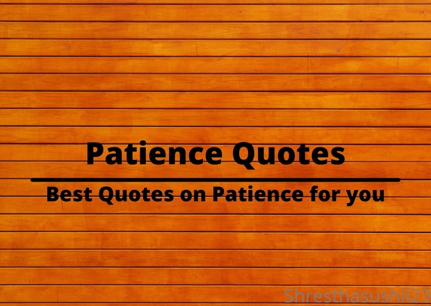 Patience Quotes: Best Quotes on Patience for you
